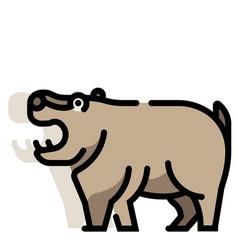 Hippopotamus linecolor vector