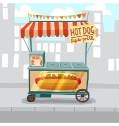 Hot Dog Street Shop vector
