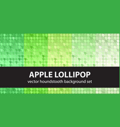 Houndstooth pattern set apple lollipop vector
