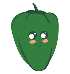 Image cute pepper - red pepper or color vector
