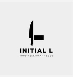 Initial l food equipment simple logo template vector