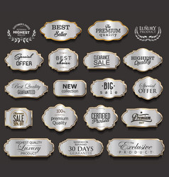 luxury gold and black design elements collection vector image