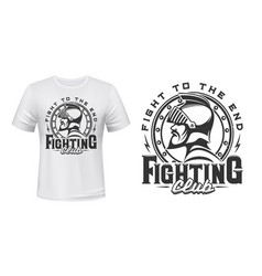 medieval knight t-shirt print fight club vector image