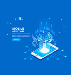 mobile artificial intelligence vector image