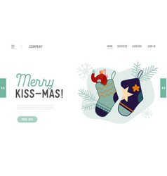 new year and christmas holidays website landing vector image