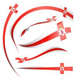 north ireland flag element isolated on white vector image