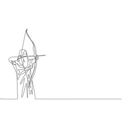 One single line drawing young beauty saudi vector