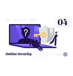 online anonymity landing page template tiny vector image