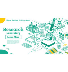 outline isometric research laboratory vector image