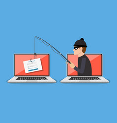 phishing scam hacker attack vector image