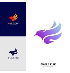 Phoenix fire bird logo design concepts dove eagle vector