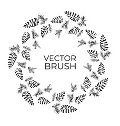pine cones seamless brush christmas wreath vector image
