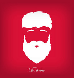 Portrait of santa claus with a beautiful hairdo vector