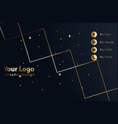 Print business card golden luxury vector