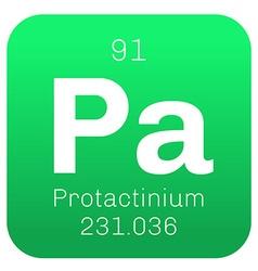 Protactinium chemical element vector