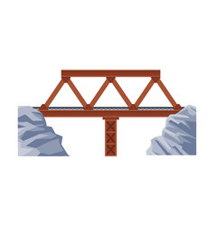 railroad iron bridge architectural design element vector image