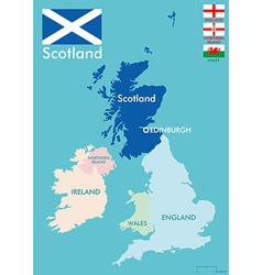 Scotland map vector image