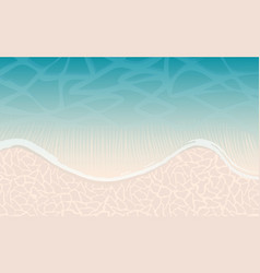 Sea or ocean beach with wave and sand as vector