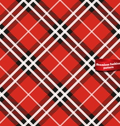 Seamless tartan fabric pattern vector