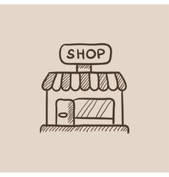 Shop sketch icon vector