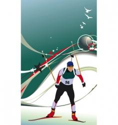 Ski biathlon vector