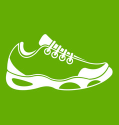 sneakers for tennis icon green vector image