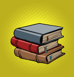 stack old books vector image
