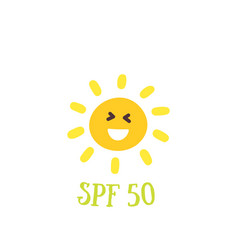 sun protection factor spf 50 vector image