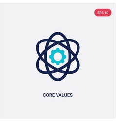 Two color core values icon from general-1 concept vector