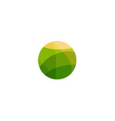 Vegan food green field with yellow sun vegetarian vector
