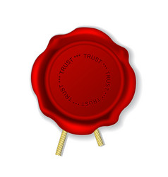 Vintage wax seal with rope - sealing wax stamp vector