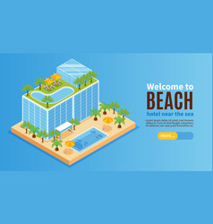 welcome to beach banner vector image