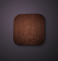 Wooden texture icon stylized like mobile app vector image