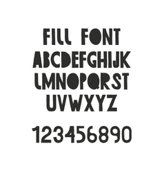 working font vector image vector image