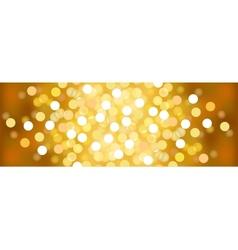 Yellow sunny festive lights background vector