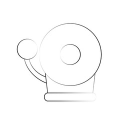fire alarm bell vector image