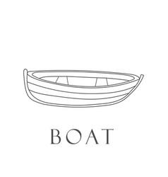 hand drawn boat vector image