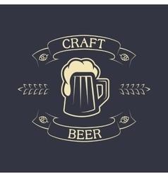 Mug of beer and ribbon for text vector image vector image