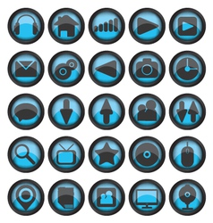 Set of web glass icons vector image vector image