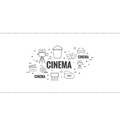 Abstract background with popcorn vector image vector image