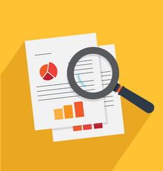 analysis and investigation vector image vector image