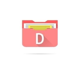 Folder icon on white background vector image
