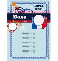 french menu vector image vector image