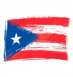 grunge Puerto Rico flag vector image vector image