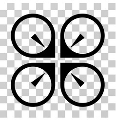 hover drone icon vector image vector image