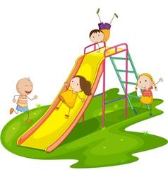 Playground Slide vector image