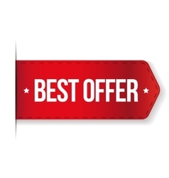 Best Offer red ribbon vector image
