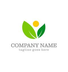 Green leaf organic abstract beauty logo vector