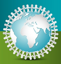People Around the World People Around Globe Paper vector image vector image