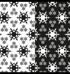 Snowflake pattern black and white vector image vector image